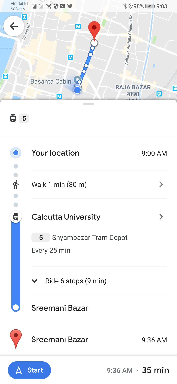 コルカタ 路面電車 Google