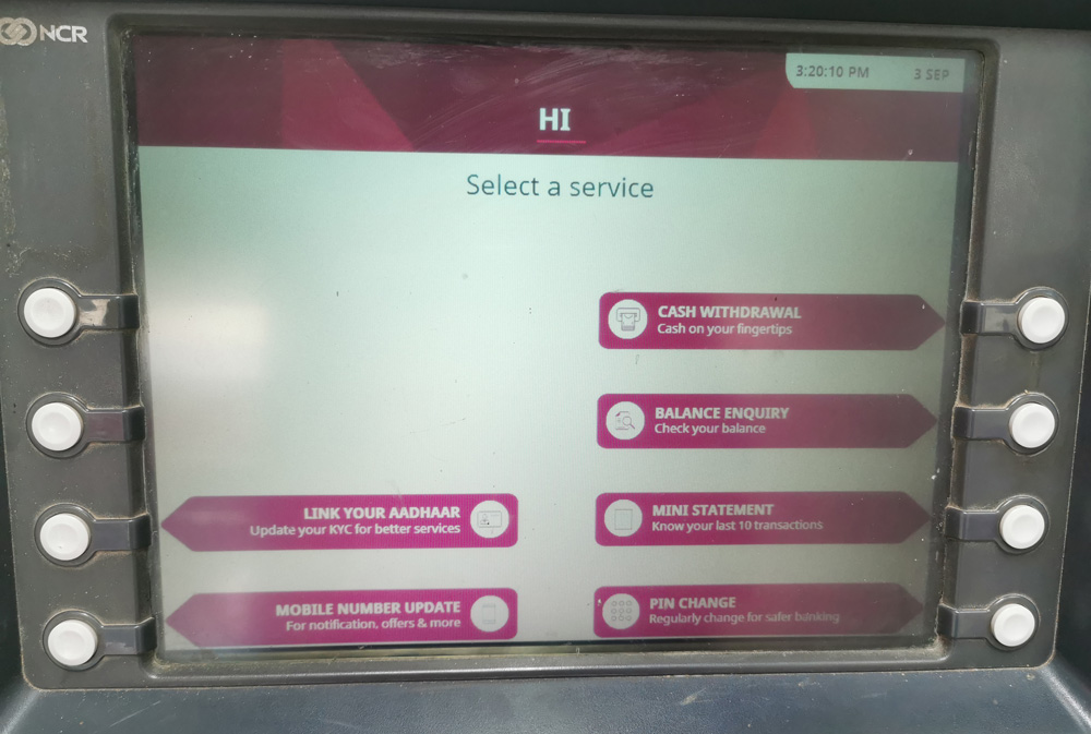 インド ATM 手順